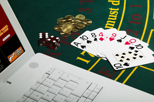 Gambling with laptop computer